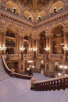 Opera Paris - Beste Just Luxus Baroque Architecture, Beautiful Architecture, Beautiful Buildings, Interior Architecture, Beautiful Places, France Europe, Paris France, Paris Paris, Princess Aesthetic
