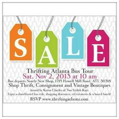 WHOS coming! #thriftibgatlanta