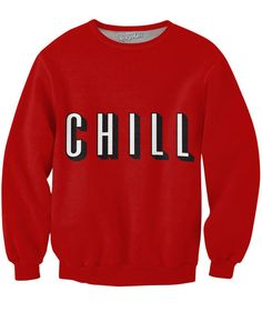 Check out this sick, all-over-print Chill Sweatshirt! This fully sublimated sweater features what Netflix should be called instead! Get this vibrant jumper toda