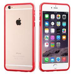 MYBAT Hybrid Bumper iPhone 6 Plus Case - Red/Clear