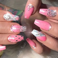 ✨ : Picture and Nail Design by •• @andy_nails •• Follow @andy_nails for more gorgeous nail art designs!
