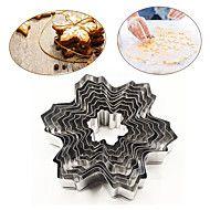 5 stücke blume form edelstahl ausstecher kuchen backform keksform   ia