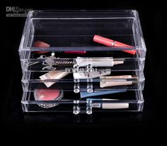 Fashion Clear Acrylic Cosmetic Box Jewellery Makeup Storage Organizer Case #Affiliate