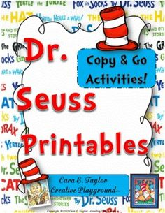 Dr. Seuss Printables love the seuss!!!