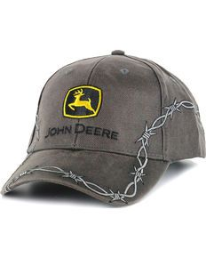 Show off your western style in this John Deere Barbed Wire Ball Cap. This  hat will keep the sun out of your eyes in style with its striking barbed  wire 73be0ab84a49
