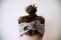 pale pink & grey headband