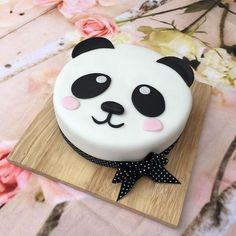 A cute Panda Birthday Cake baked with love for my daughters 13th birthday