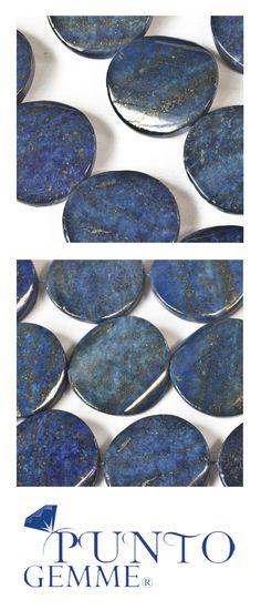 Flat round of lapis 30mm #lapis #gemstone #gemmopoli
