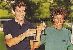 Ayrton with his Mclaren teammate Alain Prost
