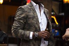 MenStyle #man #style #camouflage #blazer