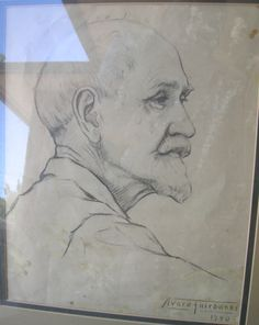 Portrait done by Avard in 1940 of John B Fairbanks his father.