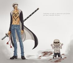 Remember the past - Young and Old Trafalgar D. Water Law One piece