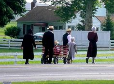 Amish People in America | Amish form strong ties through close-knit church community. Sunday ...