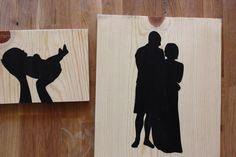 modern photo silhouettes.
