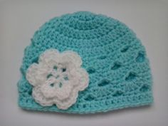 Crochet Baby Hat, Beanie £4.50