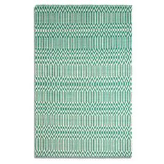 Plantation Rug Co Serengeti Green and White Rug - 268427 - Plantation Rug Co Serengeti Green and White Rug 150 x 230cm