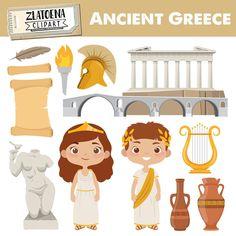 Ancient Greece Ks2, Ancient Greece Clothing, Ancient Greece Lessons, Ancient Greece Fashion, Ancient Greece For Kids, Ancient Egypt, Greece Tattoo, Travel Clipart, Greece History