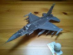 F-16 paper model by uhaehuehehe.deviantart.com on @DeviantArt