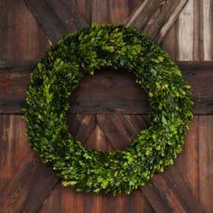 "24"" Extra Large Preserved Boxwood Wreath"