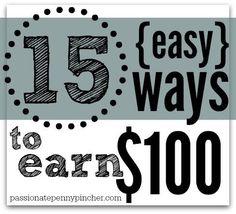 15 Easy Ways To Earn 100 Dollars Making Money, Making Money Ideas, Making Money Online
