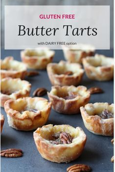Free Butter Tarts with Dairy Free Option Substitute shortening for the lard Gluten Free (Dairy Free) Butter Tarts Substitute shortening for the lard Gluten Free (Dairy Free) Butter Tarts Gluten Free Pie, Gluten Free Sweets, Healthy Gluten Free Recipes, Foods With Gluten, Gluten Free Cookies, Gluten Free Baking, Paleo Treats, Healthy Food, Healthy Eating