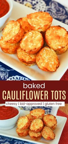 Easy Cheesy Baked Cauliflower Tots Recipe – Cupcakes & Kale Chips Baked Cauliflower Tots – easy, cheesy cauli tots are the healthy, veggie-packed alternative to tater tots for a kid-friendly side dish recipe. Cauli Tots, Cauliflower Tater Tots, Baked Cauliflower, Cauliflower Recipes, Cauliflower Side Dish, Cauliflower Risotto, Cupcake Recipes, Baby Food Recipes, Baking Recipes