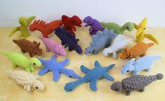 18 dinosaur amigurumi crochet patterns by PlanetJune
