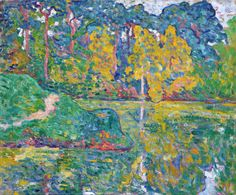 """thunderstruck9: """"Louis Valtat (French, 1869-1952), Reflets dans l'eau [Reflections in water], c.1902-03. Oil on canvas, 21 x 25.5 in. """""""