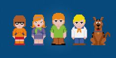 Scooby Doo Characters Cross Stitch PDF Pattern by pixelpowerdesign, $5.00