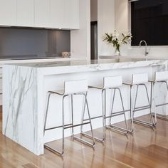42 Ideas kitchen island waterfall benches for 2019 Best Picture For k., 42 Ideas kitchen island waterfall benches for 2019 Best Picture For k. 42 Ideas kitchen island waterfall benches for 2019 Best Pic. Marble Benchtop, Kitchen Benchtops, Kitchen Flooring, Grey Kitchens, Home Kitchens, Kitchen Interior, New Kitchen, Kitchen Grey, Kitchen Ideas