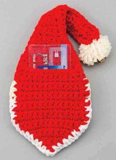 Crochet christmas ornament pattern free (back) of Santa face Crochet Christmas Decorations, Crochet Christmas Ornaments, Christmas Crochet Patterns, Holiday Crochet, Christmas Sewing, Crochet Santa, Easter Crochet, Crochet Bunny, Free Crochet