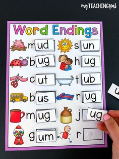 CVC Word Endings Literacy Center