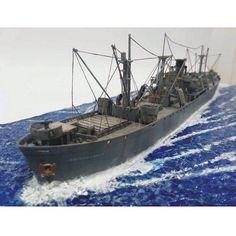 """American Freighter (Liberty Class)"" PART1 by Alonso Moro García (FBK) From: Dioramas Gallery #scalemodel #plastimodelismo #miniatura #miniature #miniatur #hobby #diorama #humvee #scalemodelkit #plastickits #usinadoskits #udk #maqueta #maquette #modelismo #modelism"