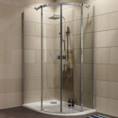 Cooke Lewis Luxuriant Offset Quadrant Shower Enclosure Tray Waste Pack With Double Sliding Doors W 1200mm D 900mm Quadrant Shower Enclosures