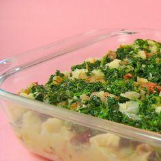 Spinach and Pancetta Strata