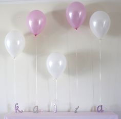 Letters as balloon weights http://catchmyparty.com/photos/780581
