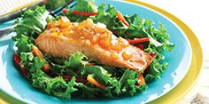 Mango chutney salmon on bed of mixed greens.delish and healthy! Diabetic Menu Plans, Diabetic Foods, Diabetes Recipes, Healthy Dinners, Easy Meals, Diabetes Canada, Vegetarian Shepherds Pie, Diabetes Association, Diabetes Care