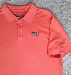 Cutter&Buck DRY FIT COUER D'ALENE GOLF COURSE POLO T-SHIRT Salmon Pink-Orange XL #CutterBuck #PoloRugby