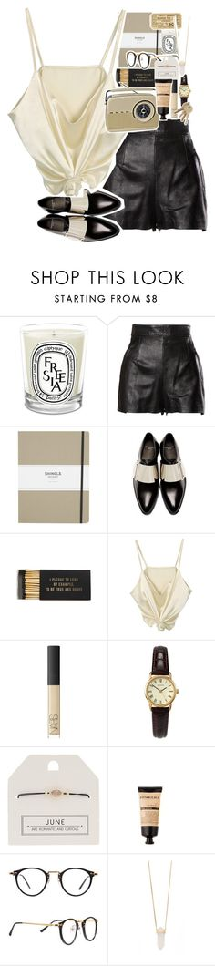 """""""I'll Never Go Home Again"""" by sparkling-oceans ❤ liked on Polyvore featuring Diptyque, Moschino, Shinola, Givenchy, Jayson Home, NARS Cosmetics, Sekonda, Topshop, American Apparel and Michael Kors"""