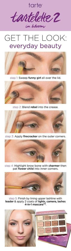 Create the perfectly balanced day look with these quick tips using the NEW tarte cosmetics tartelette 2 in bloom palette.