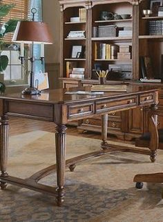 Enhance your workspace and productivity with the handsome Brookfield Writing Desk that's as beautiful as it is functional.