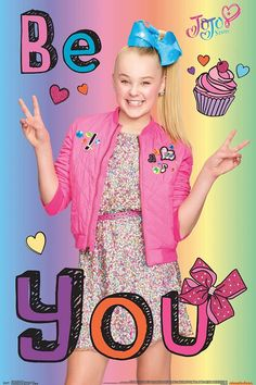 The JoJo Siwa - Be You poster is the ideal item for any JoJo Siwa fan. You will love this incredible piece. JoJo Siwa Be You Poster - Trends International Multi-Colored Dance Moms Chloe, Dance Moms Girls, Jojo Siwa Bows, Jojo Bows, Kendall, Jojo Siwa Birthday, 8th Birthday, Birthday Ideas, Birthday Parties