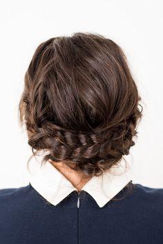 Reverse crown braid