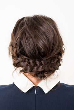 Try this easy reverse crown braid tutorial and be done in 15 minutes. Insanely easy. If you can create a normal braid, you can totally recreate this look.