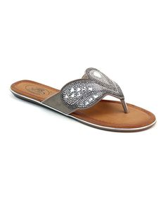 Look what I found on #zulily! Selina Pewter Rhinestone Teardrop Sandal by Selina #zulilyfinds