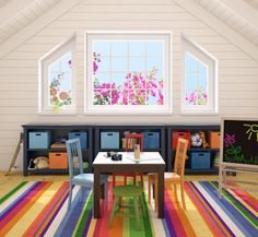 color! Would love to have a play room for my kids one day like this!