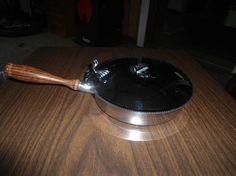 Italian Silent Butler, Silver Plate Crumb Butler, Round, Wood Handle, Tobacciana, Vintage, Crumb Catcher