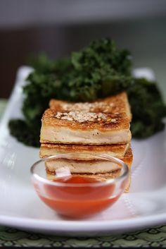 Simple Sauteed Tofu with Crispy Sesame Kale