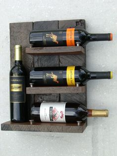 Wine rack - Upcycled wine rack - Rustic Wine rack - Reclaimed wood wine rack - Reclaimed redwood wine rack