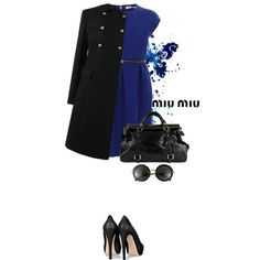 blue - black - Polyvore
